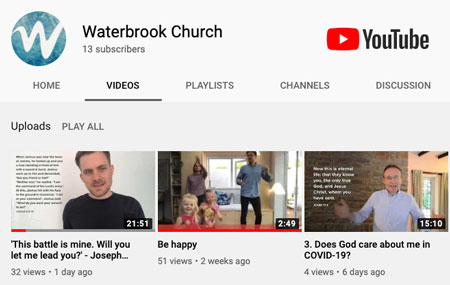 Waterbrook YouTube Channel